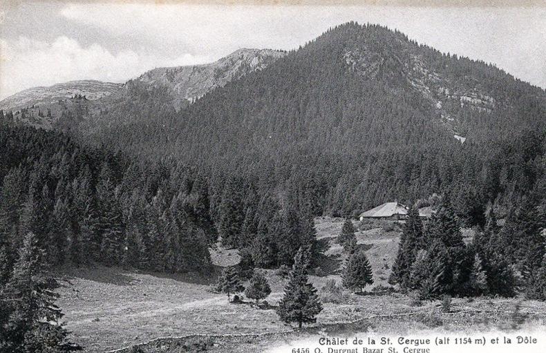 Saint Cergue , Chalet de st Cergue et la Dôle,. Suisse