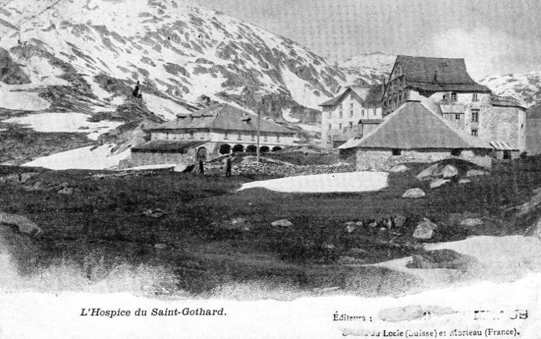 Saint Gothard, L' Hospice .. Suisse