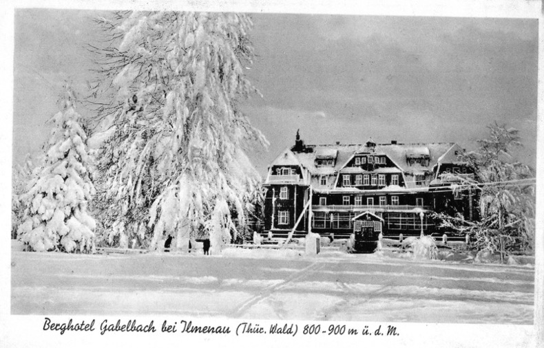 BERGHOTEL GABELBACH BEI ILMENAU .. Allemagne
