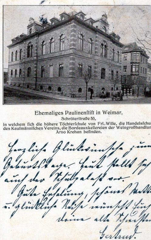 EHEMALIGES PAULINENFTIFT in WEIMAR .. Allemagne
