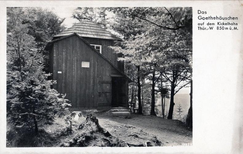 Das Goethehauschen auf dem Kickelhahn. Goethe