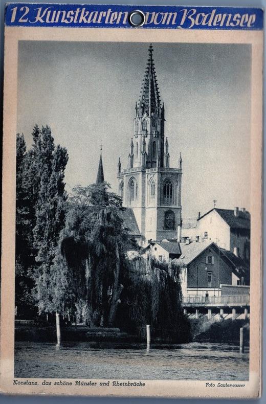 Konstanz, das schône Munster und Rheinbrûcke .. Allemagne