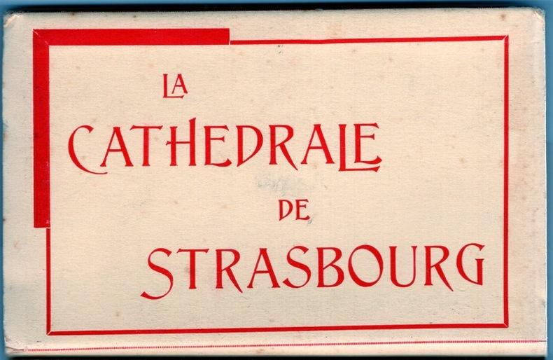La Cathédrale de Strasbourg . Alsace
