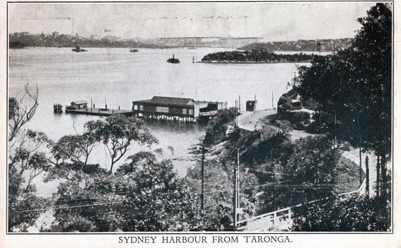 SYDNEY Harbour from Taronga. Australie