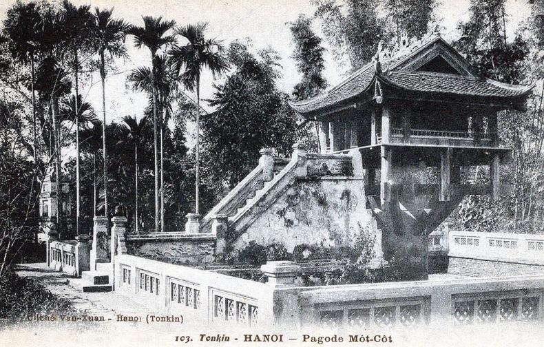 TONKIN , Hanoi, pagode Môt-Cot. Vietnam
