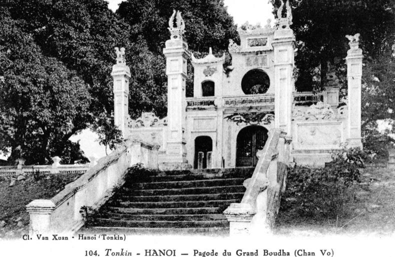TONKIN , Hanoi, Pagode du grand Boudha , Chan Vo .. Vietnam