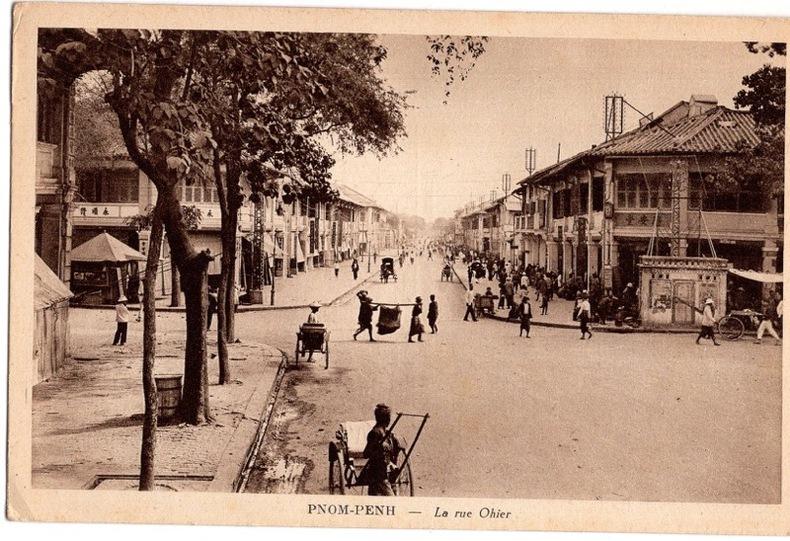 PNOM-PENH - la rue Ohier,. Cambodge