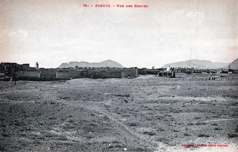FIGUIG , Vue des Ksours .. Maroc