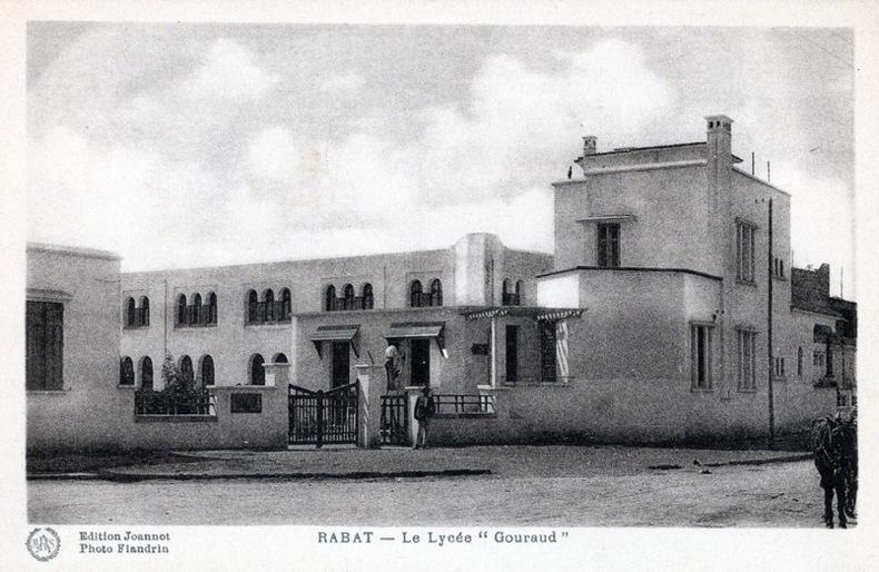 RABAT ,  le lycée Gouraud .. Maroc