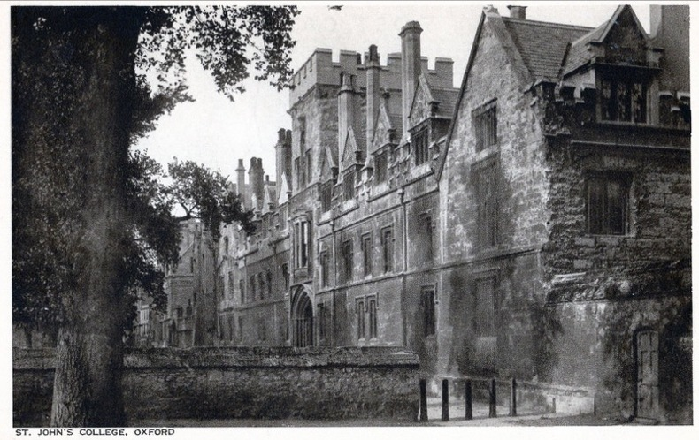 OXFORD , St John's College. Angleterre