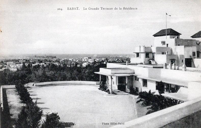 RABAT , La grande Terrasse de la Résidence , . Maroc