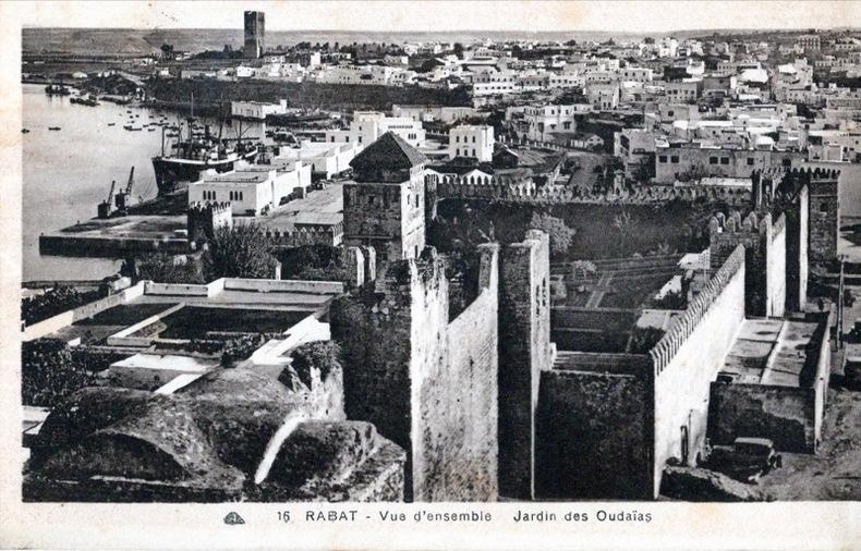 RABAT , Vue d'ensemble, jardin des Oudaias. Maroc