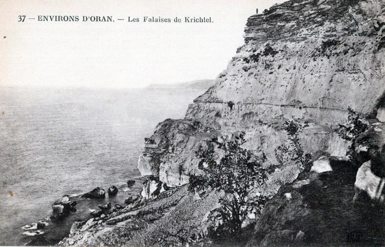 ORAN , Les falaises de Krichtel. Algérie
