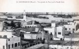 CASABLANCA , Vue générale du port avec la grande jetée. Maroc