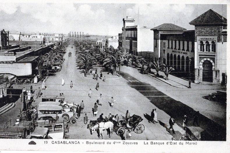 CASABLANCA , Le boulevard de la gare, . Flandrin