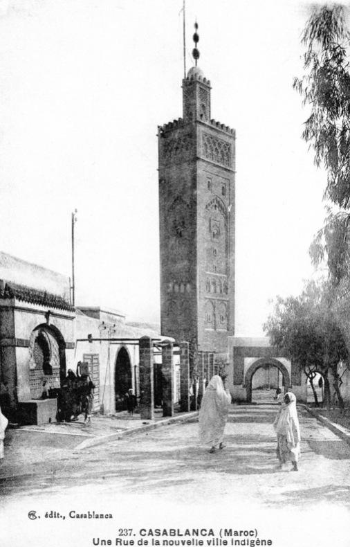 CASABLANCA , une rue de la nouvelle ville indigéne . Maroc