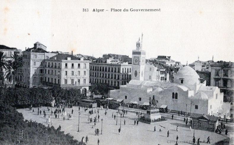 ALGER , Place du gouvernement. ALGÉRIE