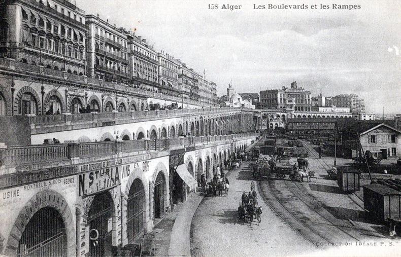 ALGER , Les boulevards et les Rampes. ALGÉRIE
