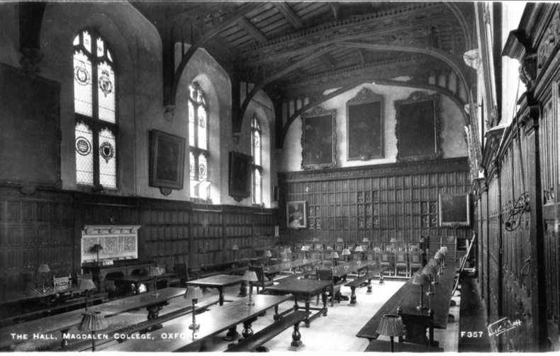 OXFORD , MAGDALEN COLLEGE , The Hall .. Angleterre
