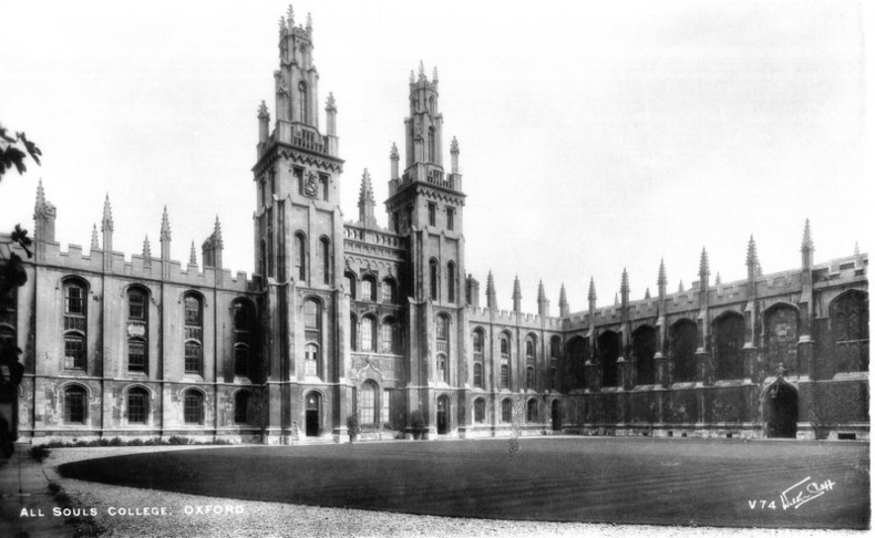 OXFORD , ALL SOULS COLLEGE. Angleterre