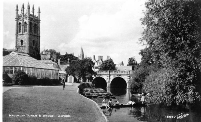 OXFORD , MAGDALEN TOWER & BRIDGE. Angleterre
