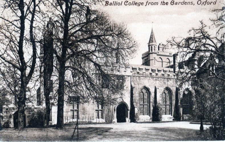 OXFORD , BALLIOL COLLEGE from the gardens .. Angleterre
