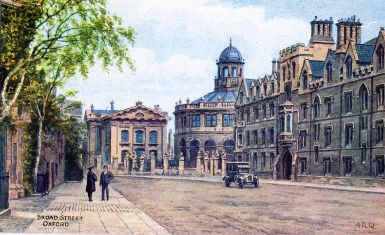 OXFORD , Broad street,. Angleterre