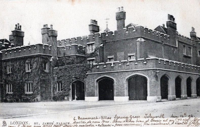 LONDON , St James' Palace. Angleterre