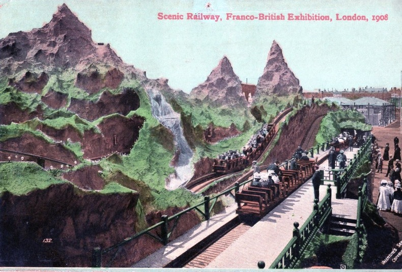 LONDON , Scenic Railway,. Angleterre