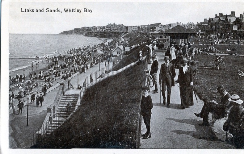 WHITLEY BAY , Links and Sands,. Angleterre