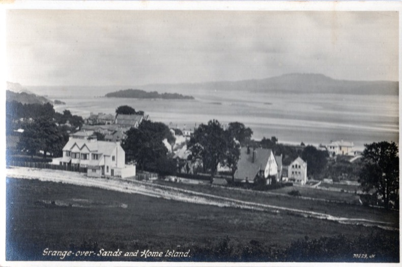 Grange-over-sands and Home Island. Angleterre