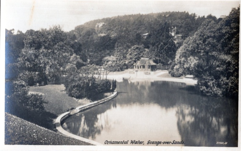 Grange-over-sands Ornemental Water,. Angleterre