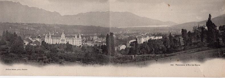 AIX-LES-BAINS , Panorama. Savoie