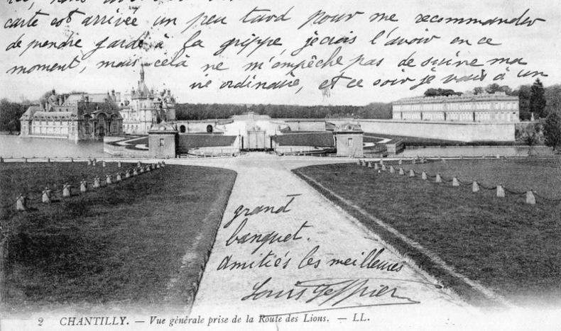 CHANTILLY , Vue générale prise de la route des Lions.. Oise