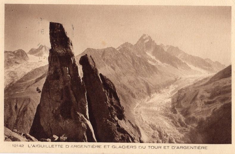 ARGENTIÉRE , Aiguillettes d'Argentiéreet Glaciers du Tour et d'Argentiére.. Haute Savoie