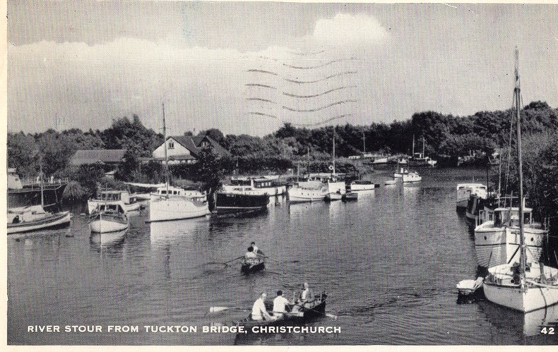 Christchurch , River Stour from Tuckton bridge. Angleterre