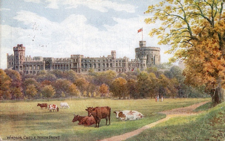 WINDSOR CASTLE , North front. Angleterre