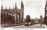 CAMBRIDGE , Kings parade and Kings College.. Angleterre
