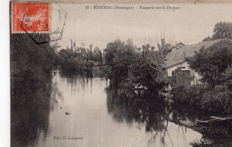 RIBÉRAC , Tannerie sur la Dordogne. Dordogne