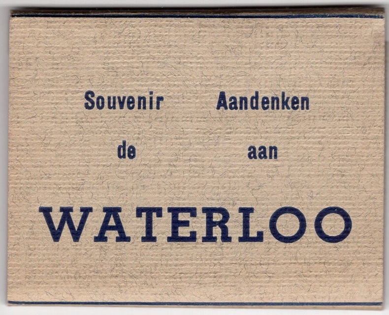 WATERLOO , souvenirs. Belgique