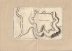Plan de Chaumont en Bassigny. Gravure XVIIe, issue de Typographia Galliae.-. MERIAN Matthaeus.-