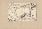 Plan de Langres. Gravure XVIIe, issue de Typographia Galliae.-. MERIAN Matthaeus.-