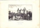 Lithographie. Dessin d'André Durand, imprimé par Bertauts.-. COMBOURG Le Château.-
