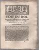 concernant l'administration de la Justice dans l'État d'Avignon & le Comté Venaissin.. Édit du Roi