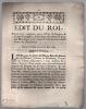 portant création , pour l'État d'Avignon & Comté Venaissin, d'une Cour des Aides & Cour des monnoies …. Édit du Roi