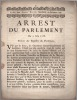 Du 9 juin 1768. Arrest du Parlement