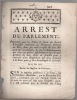 du 25 juin 1770. Arrest du Parlement