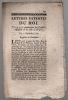 du 11 décembre 1769. Lettres patentes du Roi