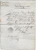 Certificat de 1815. VERNETY P.