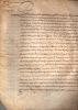 Minute notariale de l'acte d'acquisition par Lamoignon, d'une parcelle de terrain à Paris.. Lamoignon